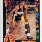 1991-92 Wildcard Basketball #030 James Bullock - Purdue Ex