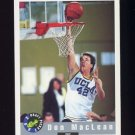 1992 Classic Basketball #044 Don Maclean - Detroit Pistons