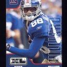 2002 Upper Deck XL Football #304 Ike Hilliard - New York Giants