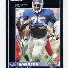 1992 Pinnacle Football #322 Keith Hamilton RC - New York Giants