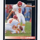 1992 Pinnacle Football #125 Nick Lowery - Kansas City Chiefs