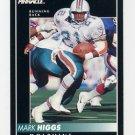 1992 Pinnacle Football #087 Mark Higgs - Miami Dolphins