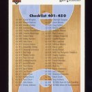1991-92 Upper Deck Basketball #500 Checklist Card 401-500