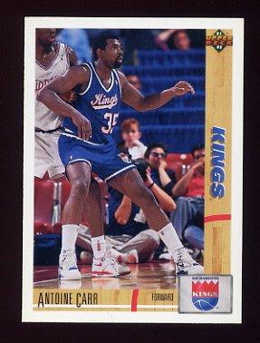 1991-92 Upper Deck Basketball #313 Antoine Carr - Sacramento Kings