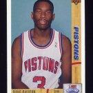 1991-92 Upper Deck Basketball #020 Doug Overton RC - Detroit Pistons
