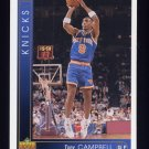 1993-94 Upper Deck Basketball #136 Tony Campbell - New York Knicks