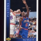 1993-94 Upper Deck Basketball #110 Terry Mills - Detroit Pistons