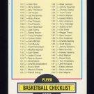 1990-91 Fleer Basketball #198 Checklist 101-198