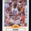 1990-91 Fleer Basketball #183 Mike Brown - Utah Jazz