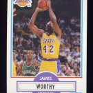 1990-91 Fleer Basketball #097 James Worthy - Los Angeles Lakers
