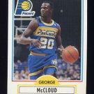 1990-91 Fleer Basketball #077 George McCloud RC - Indiana Pacers