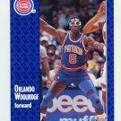 1991-92 Fleer Basketball #283 Orlando Woolridge - Detroit Pistons