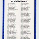 1991-92 Fleer Basketball #239 Checklist 1-120