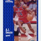 1991-92 Fleer Basketball #206 A.J. English - Washington Bullets