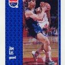 1991-92 Fleer Basketball #176 Jim Les RC - Sacramento Kings