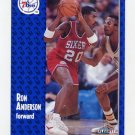 1991-92 Fleer Basketball #150 Ron Anderson - Philadelphia 76ers