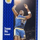 1991-92 Fleer Basketball #067 Tyrone Hill - Golden State Warriors