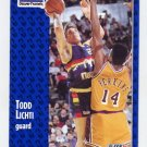 1991-92 Fleer Basketball #051 Todd Lichti - Denver Nuggets