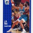 1991-92 Fleer Basketball #024 J.R. Reid - Charlotte Hornets