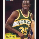 1993-94 Fleer Basketball #383 Chris King RC - Seattle Supersonics