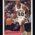 1993-94 Fleer Basketball #379 Chris Whitney RC - San Antonio Spurs
