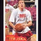 1993-94 Fleer Basketball #295 Richard Petruska RC - Houston Rockets