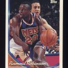 1993-94 Topps Basketball #137 Rumeal Robinson - New Jersey Nets