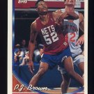 1993-94 Topps Basketball #094 P.J. Brown - New Jersey Nets