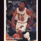 1993-94 Topps Basketball #044 Brian Shaw - Miami Heat