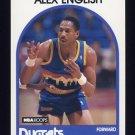 1989-90 Hoops Basketball #120 Alex English - Denver Nuggets