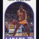 1989-90 Hoops Basketball #019 Tony Campbell RC - Los Angeles Lakers