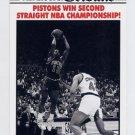 1990-91 Hoops Basketball #341 Pistons Win