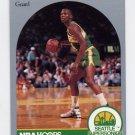 1990-91 Hoops Basketball #284 Sedale Threatt - Seattle Supersonics