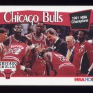 1991-92 Hoops Basketball #277 The Chicago Bulls
