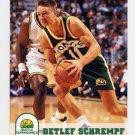 1993-94 Hoops Basketball #411 Detlef Schrempf - Seattle Supersonics