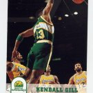 1993-94 Hoops Basketball #408 Kendall Gill - Seattle Supersonics