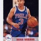 1993-94 Hoops Basketball #384 Dana Barros - Philadelphia 76ers