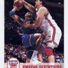 1993-94 Hoops Basketball #373 Dwayne Schintzius - New Jersey Nets