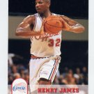 1993-94 Hoops Basketball #352 Henry James - Los Angeles Clippers