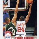 1993-94 Hoops Basketball #351 Terry Dehere RC - Los Angeles Clippers