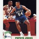 1993-94 Hoops Basketball #321 Popeye Jones RC - Dallas Mavericks