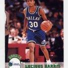 1993-94 Hoops Basketball #320 Lucious Harris RC - Dallas Mavericks