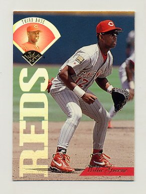 1995 Leaf Baseball #072 Willie Greene - Cincinnati Reds