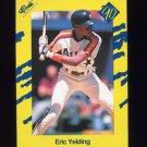 1990 Classic Yellow Baseball #T58 Eric Yelding - Houston Astros