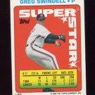 1990 Topps Sticker Backs Baseball #63 Greg Swindell - Cleveland Indians
