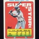 1990 Topps Sticker Backs Baseball #48 Joe Carter - Cleveland Indians