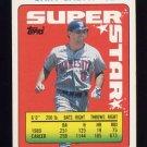 1990 Topps Sticker Backs Baseball #41 Gary Gaetti - Minnesota Twins