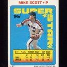 1990 Topps Sticker Backs Baseball #27 Mike Scott - Houston Astros