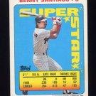 1990 Topps Sticker Backs Baseball #23 Benny Santiago - San Diego Padres