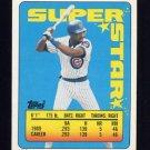 1990 Topps Sticker Backs Baseball #21 Jerome Walton - Chicago Cubs